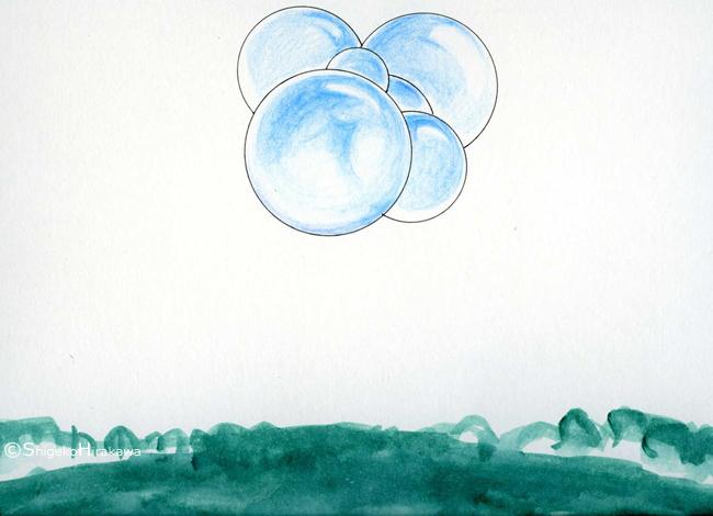 Molécule d'oxygène, dessin 2003
